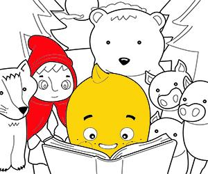 Short stories for kids coloring pages