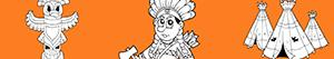 Native North American Indians coloring pages
