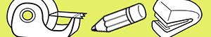 Office supplies coloring pages
